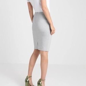 The Limited light stone gray pencil skirt
